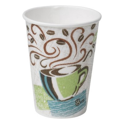 Dixie PerfecTouch Insulated Hot or Cold Cups – 100% Foam Free - Coffee Haze Design, 8 oz. (160 ct.)