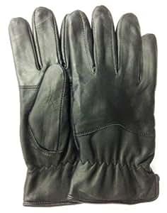 Piel Genuino Suave Gran Calidad Hombre guantes para conducir OVEJA NEGRA Nappa Hombre Grande