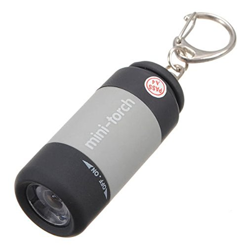 Color al Azar Liamostee 0,5 W Mini Llavero con Linterna LED Recargable por USB