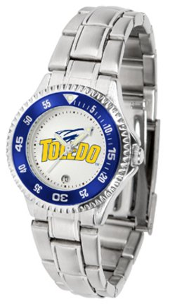 SunTime Toledo Rockets Competitor Ladies Watch with Steel Band