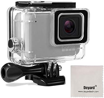Deyard Caso de la Vivienda de protección a Prueba de Agua con Quick Release Monte y apriete Manual para GoPro Hero 7 White GoPro Hero 7 Silver ...