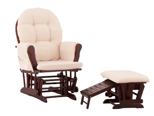Naomi Home Brisbane Glider & Ottoman Set with Cushion