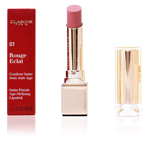 Clarins Rouge Eclat Satin Finish Age Defying Lipstick, 16 Candy Rose, 0.1 Ounce