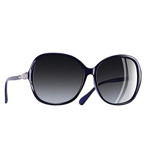 gafas Frame de Rhinestone Fuzzy sobredimensionados polarizadas Classic mujer gafas lentes sol C5 C6 TIANLIANG04 CnZxwq8pUC