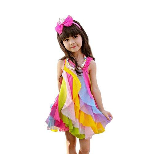 losorn-kid-girls-dresses-sweet-rainbow-summer-beach-sundress-hot-pink-110