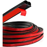 HOTSYSTEM B-Shape Door Rubber Seal Strip Weatherstrip Self Adhesive Hollow for Car Truck Motor Door Cover Trunk (Black…
