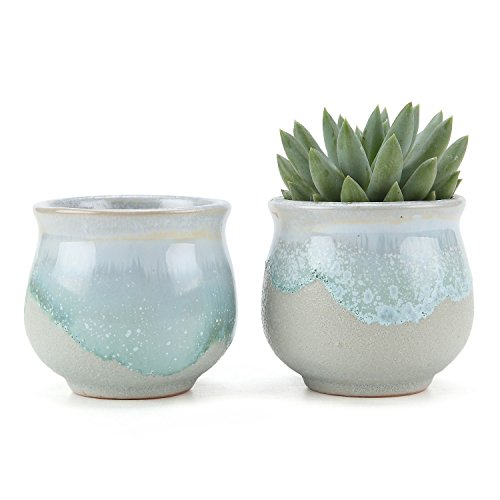 t4u-25-inch-ceramic-flowing-glaze-solid-gray-base-serial-open-mouth-shape-succulent-plant-pot-cactus
