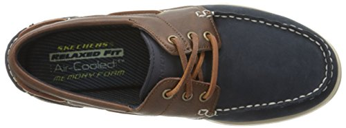 Skechers Usa Heren Eris Slip-on Bootschoen Marine / Bruin