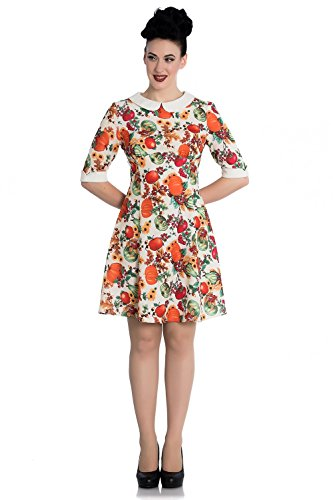 d47d5be00e92e2 Hell Bunny 60's Retro Autumn Pumpkin Berries Mini Dress - Multicoloured ...