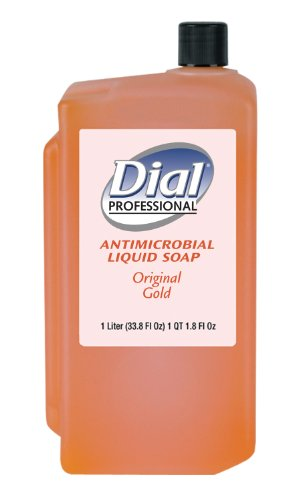 Liquid Dial Gold Antimicrobial Soap (Dial 724706 Gold Antimicrobial Liquid Soap, 1 Liter Refill Cartridge (Pack of 8))