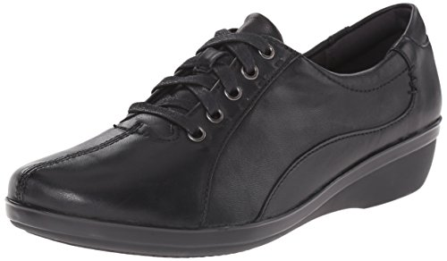 CLARKS Women's Everlay Elma Oxford, Black, 11 M US