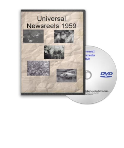 News of the Day 1959 - Universal Newsreels Including Redstone Missiles, Atomic SUbmarine Launch, Mercury Space Capsule, Monkey's in Space, Baseball World Series, Explorer VI Satellite, Hawaii Becomes 50th State, - Explorer Baseball
