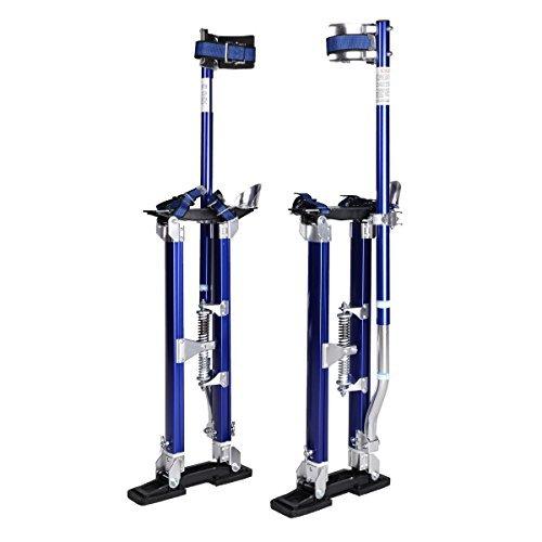 Blue/black 24-40 Inch Drywall Stilts Aluminum Tool Stilt for Painting Painter (blue) by Goplus