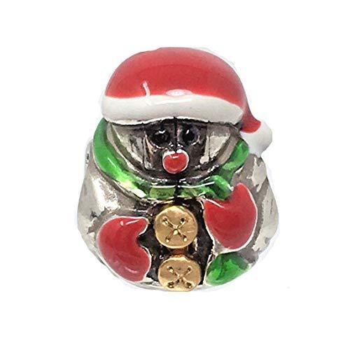 (Brighton Enamel Papa Noel Stopper Bead Santa)