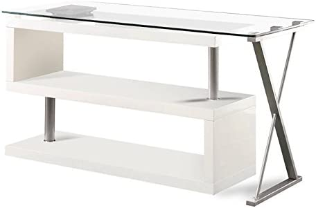 Furniture of America Fiora Modern Swivel Metal Computer Desk
