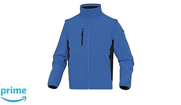 Delta Plus myse2bngt Chaqueta de Softshell, 96/% poli/éster 4/% elastano, brazos desmontables, Azul de color negro, L,