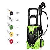 3000 PSI Pressure Washer, Power Washer, Electric Pressure Washer, High Pressure Washer Cleaner Machine with 5 Nozzles,1800W Rolling...