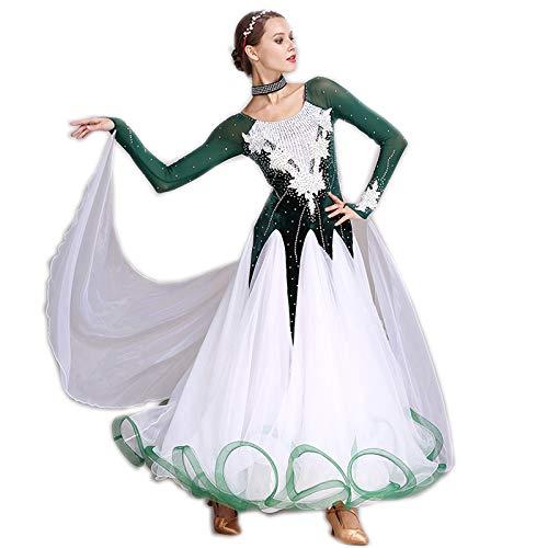 garuda 社交ダンス衣装 豪華ファッションデザイン競技用ドレス 新入荷 5色 B07NJGVWP2 Medium|グリーン グリーン Medium