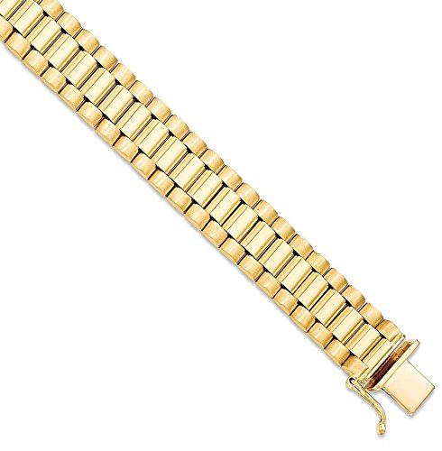 ICE CARATS 14k Yellow Gold Mens Bracelet 8 Inch H Link Man Men Fine Jewelry Dad Mens Gift Set by ICE CARATS (Image #1)