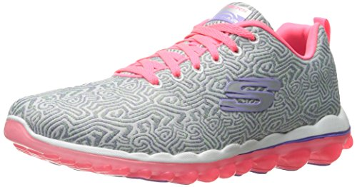Fashion Air (Skechers Sport Women's Skech Air 2.0 Pathways Fashion Sneaker,Grey/Pink,9 M US)