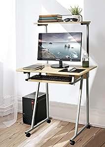 Amazon Com Aingoo Mobile Computer Desk Small Rolling Work
