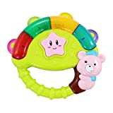 Music Rattle Tambourine Children's Drum Musical Instrument Story Light Baby Early Education Toy 0-3 Years Old Hand Bell (Color : Green)