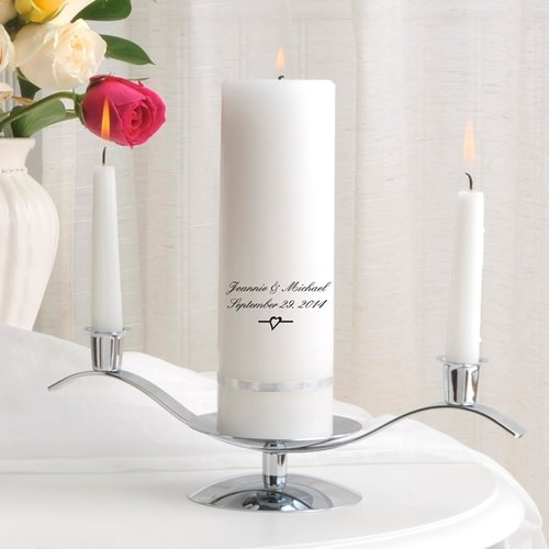 Personalized Premier Wedding Unity Candle w/Stand- Devonshire by A Gift Personalized