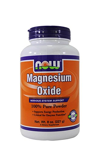 NOW Magnesium Oxide Powder 8 Ounce