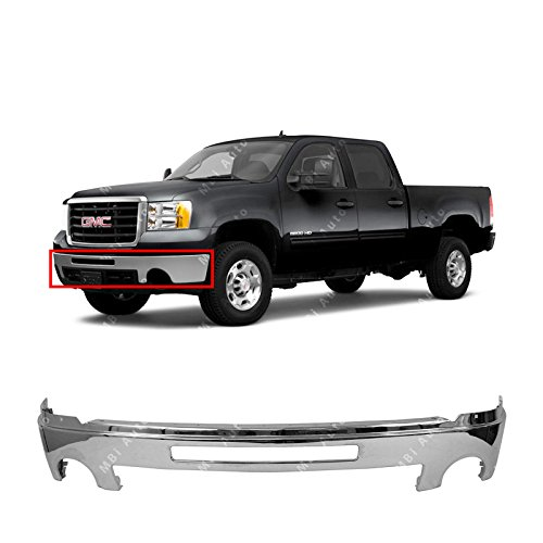 MBI AUTO - Chrome, Steel Front Bumper Face Bar Shell W/ Center Air Hole for 2007-2013 GMC Sierra 1500 2500 3500 Pickup 07-13, (Sierra Bumper)