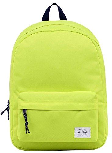 SIMPLAY Mochila Escolar Clásico   44x30x12,5cm   Colores Variados   Turquesa D194J, Verde Amarillo