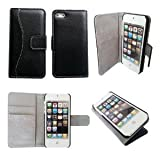 Bear Motion Luxury 100 Percent Genuine Top Lambskin Leather Case for iPhone 5 / 5S - Black