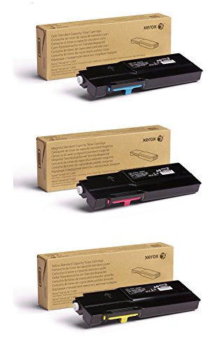 Xerox Cyan/Magenta/Yellow Standard Capacity Toner Cartridge Set (106R03501, 106R03502, 106R03503) - 2500 Pages - for use in VersaLink C400/C405 (Standard Capacity Cyan Cartridge)