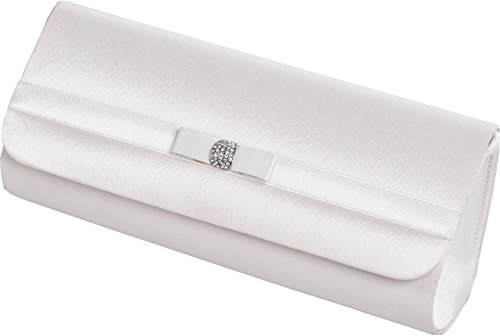 Ivory Ladies with diamante clutch and bag horizontal small Ivory band FwwBqRdp