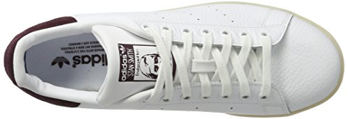 dark Hombre Smith F12 ftwr Blanco Burgundy Zapatillas Para Stan ftwr White White Adidas qIRnwHvw
