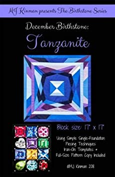 Birthstone Series Finished Block Size is 17 x 17 MJ Kinman Quilt Patterns 07 - July//Ruby