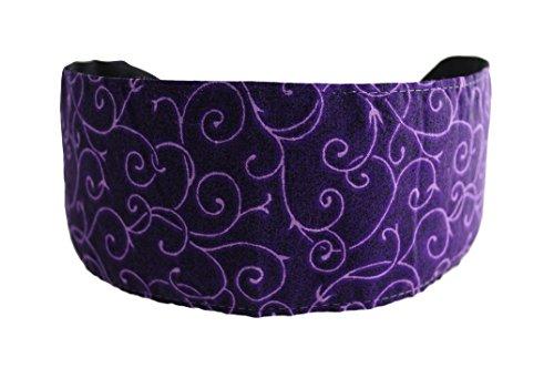 Bargain Headbands Light purple Vine Over Dark Purple Soft Cloth Fabric ()