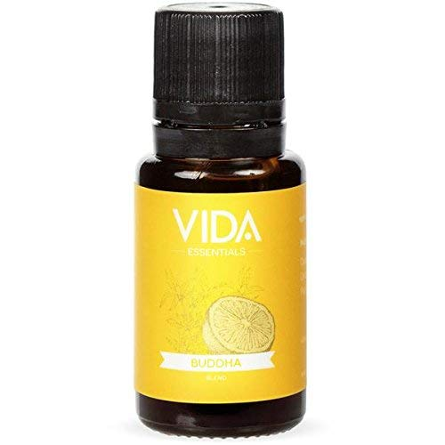 Enlightenment Essential Oil Blend (Buddha), 15 ml (0.5 fl oz), 100% Pure, Best Therapeutic Grade- Orange, Pine Needle, Ho Leaf, Omani Frankincense, Patchouli, Cistus Labdanum. VIDA Essentials. ()