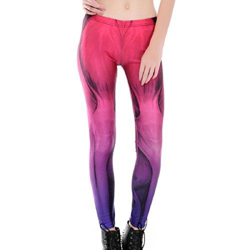 ACVIP Damen Drucken Leggings Lange Stil Stretch Traininghose Fitness Leggings Athletische Hosen Style 1