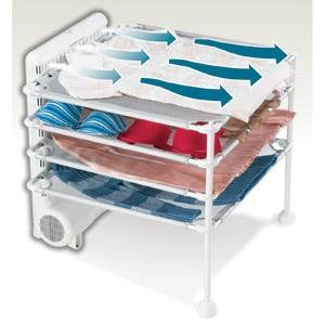 Hamilton Beach 11510 4-Shelf Garment Drying Station, White (Hamilton Beach Drying Rack)