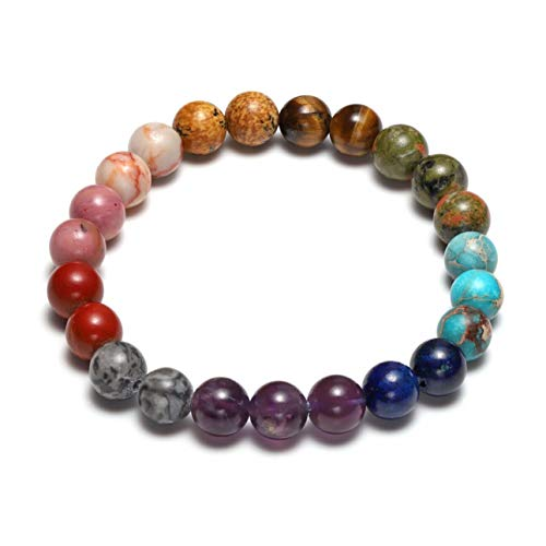 Top Plaza Women Men Chakra Yoga Meditation Bracelet Reiki Healing Crystals Stones Handmade Gemstone Beads Bracelets Jewelry Gift