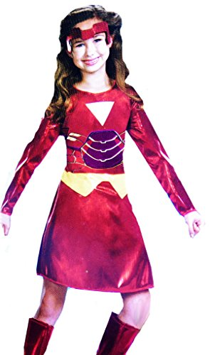 Girls Iron Man 2 Ironette Costume Plus Size 4-6X Costume (Plus Size Marvel Costumes)
