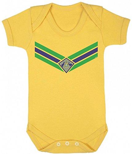 Baby Australia Team Emblem Boys Girls Football Babygrow World Cup 2018 Retro Sports ()