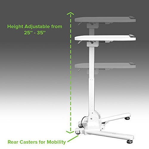NavePoint Height Adjustable Folding Compact Mobile Laptop Desk Portable Workstation by NavePoint (Image #2)