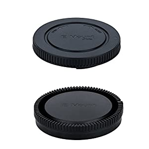 Body Cap and Rear Lens Cap Kit for Sony Alpha Series & NEX Series E-Mount Mirrorless Camera and Lens such as Sony Alpha A9/A7/A7 II/A7S/A7S II/A7R/A7R II/A6500/A6300/A6000/A5100/NEX-7/NEX-6/NEX-5R