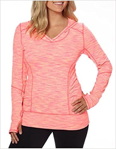 Small Kirkland Signature Pullover Hoodie Electric Coral