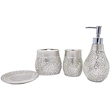 Delicieux Bathpro 4 PIECE Mosaic Bathroom Accessories Completes With Lotion/Soap  Dispenser,Bath Cup