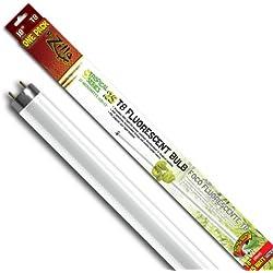 Zilla Reptile Habitat Lighting UVB Fluorescent Tropical T8 Bulb, 15W