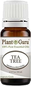 Tea Tree Essential Oil 10 ml 100% Pure Undiluted Therapeutic Grade Extract of Melaleuca Alternifolia, Great for Aromatheray, Diffuser, Dandruff, Acne, Skin, Body, Hair and Scalp.