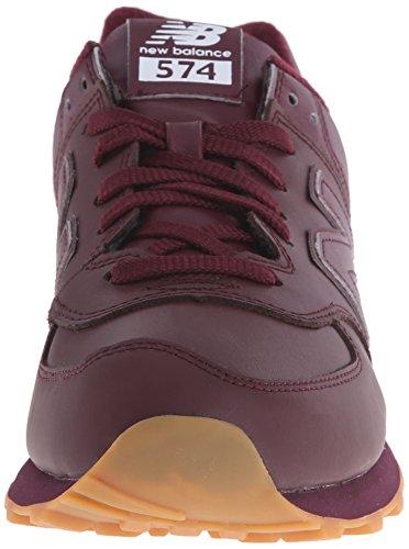 new balance 574 burgundy leather