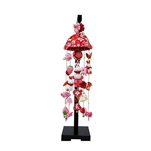 吊るし飾り 桜うさぎ 小 スタンド付き sb-3-4s 飾り台セット   B075L46LX6
